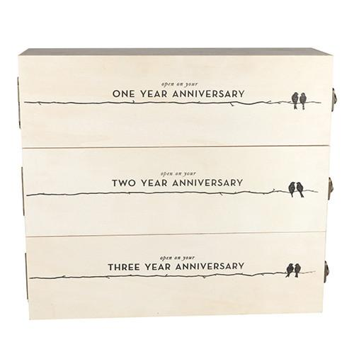 Happy Anniversary Trio Wine Box
