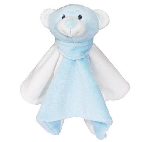 Embroidered Blue Bear with Blanket - Small