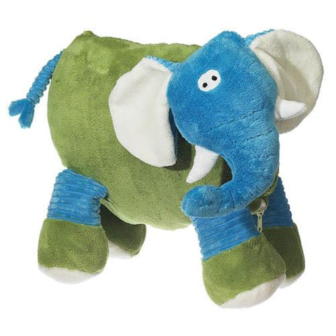 Embroidered Blue Elephant - Large