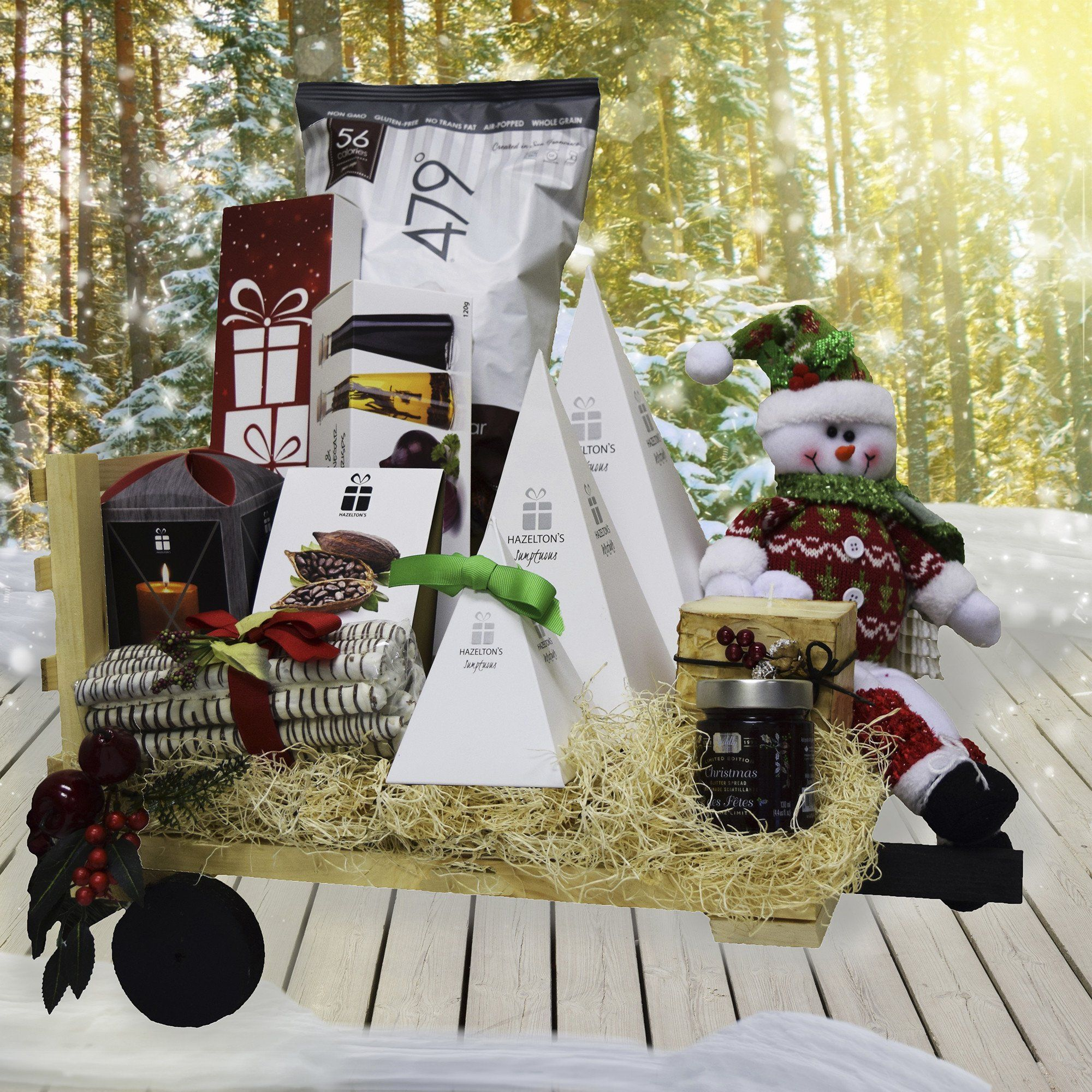 Christmas Haywagon Gift Basket