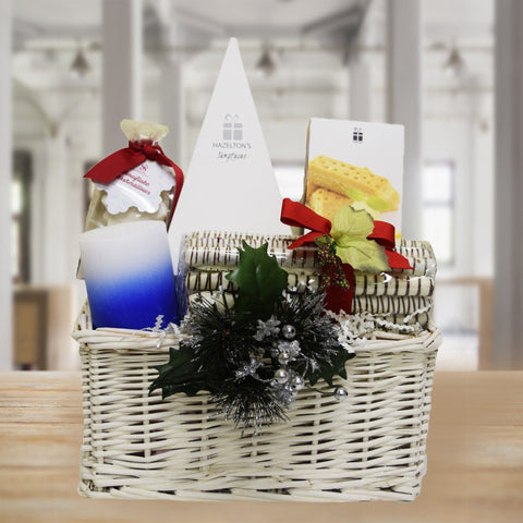 Christmas Logs and Pyramid Gift Basket