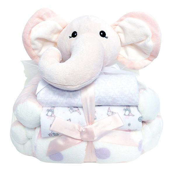 Plush toy with 3 blankets