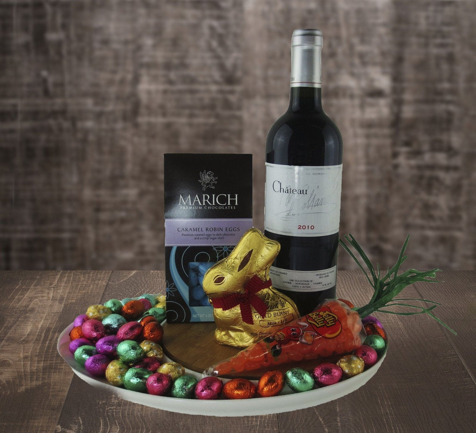 Wine, Eggs and a Bunny Easter Basket