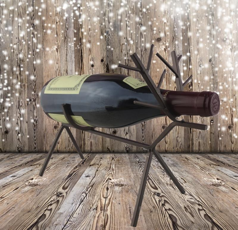 Reindeer Wine Bottle Holder, with Wine