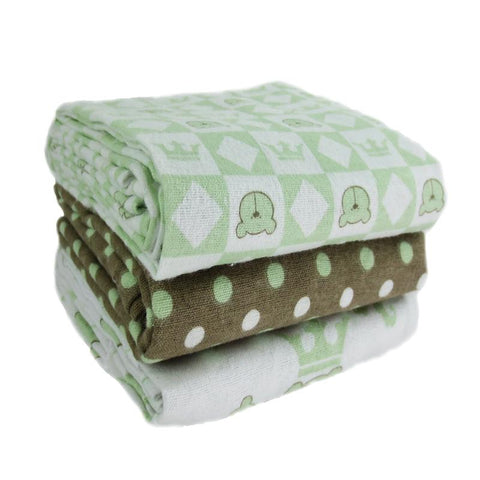 Embroidered Green Receiving Blanket