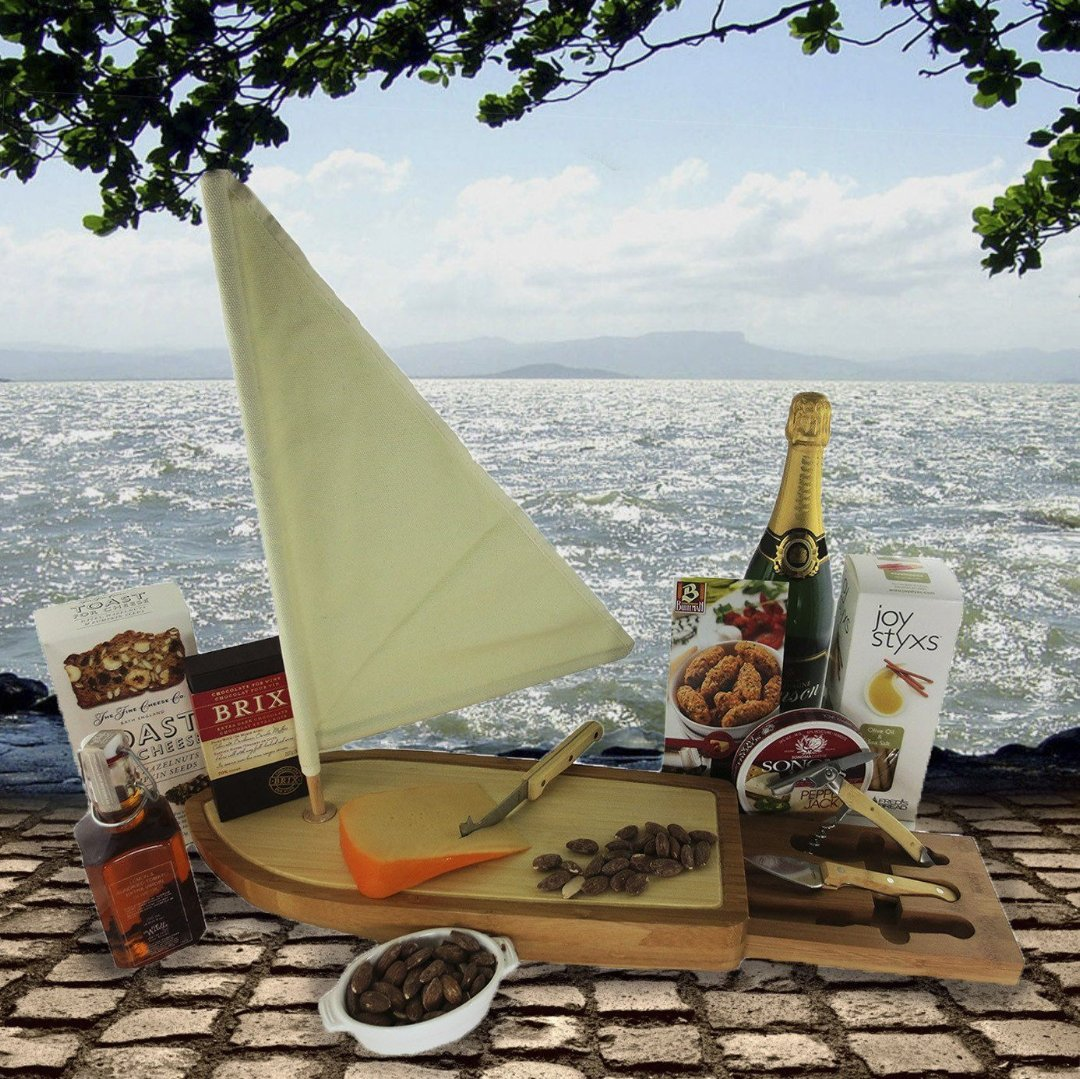 Sail Away Gift Basket - Champagne or Wine Can Be Added