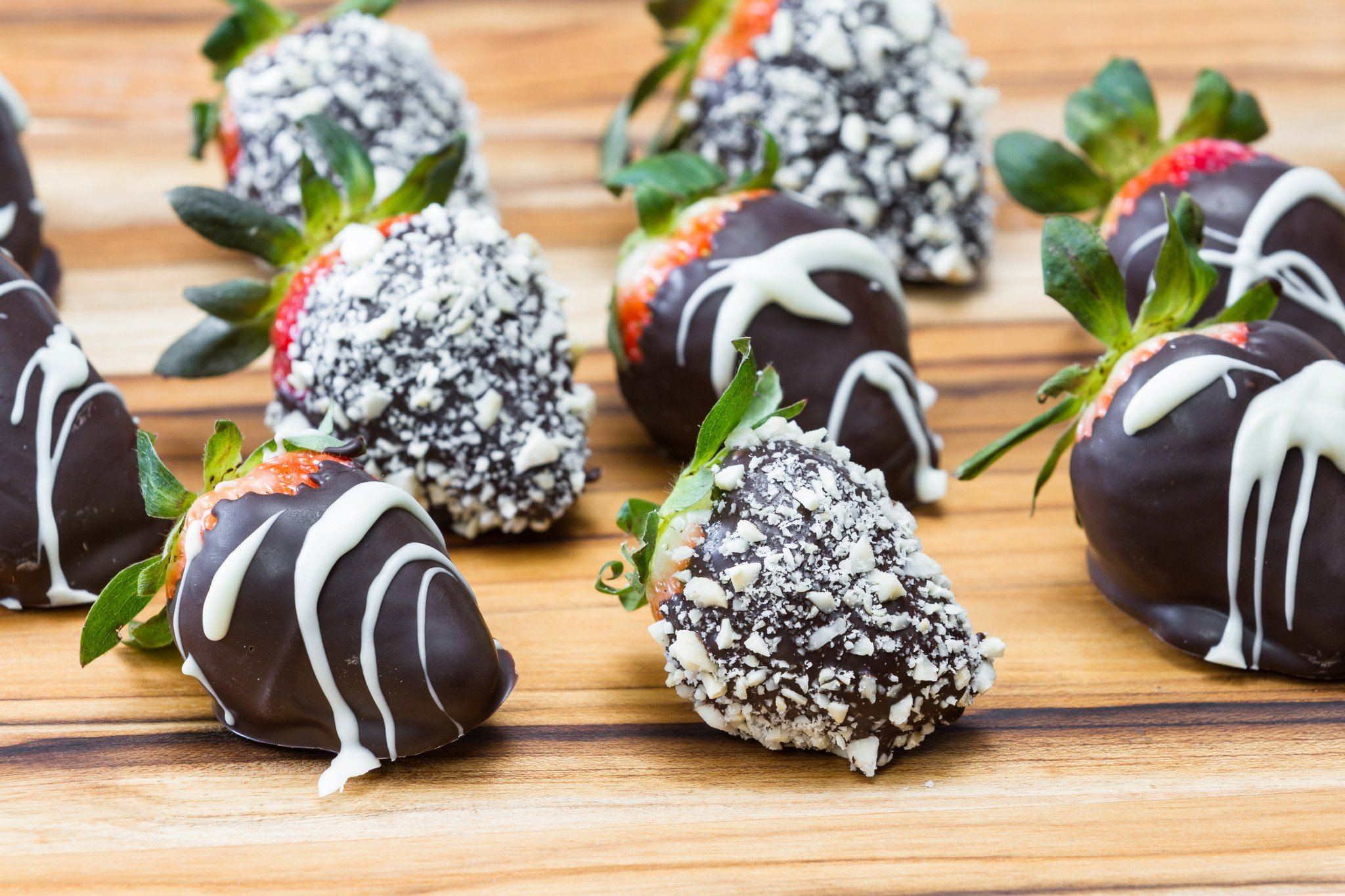 Champagne, Chocolate & Chocolate Dipped Strawberries in a Dome