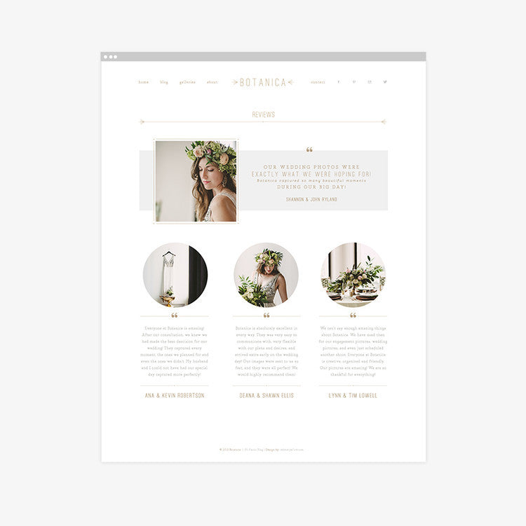 Featured Product | Botanica ProPhoto 5 Review Page Template
