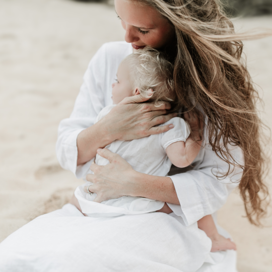 Organic Motherhood Baby Session With Modern Baby