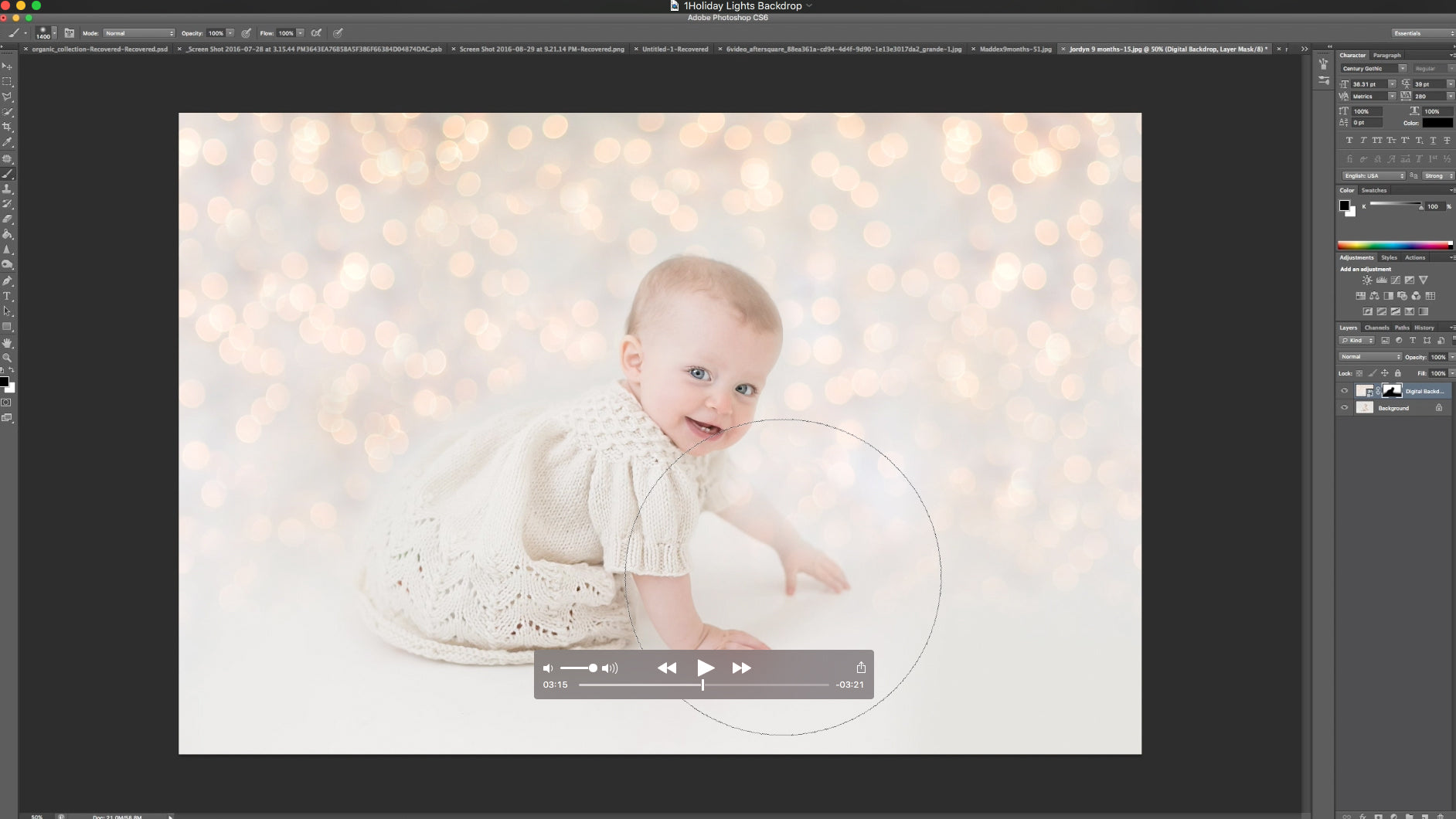 Free holiday backdrop tutorials free promotional text modern video tutorial on using a digital backdrop baditri Choice Image