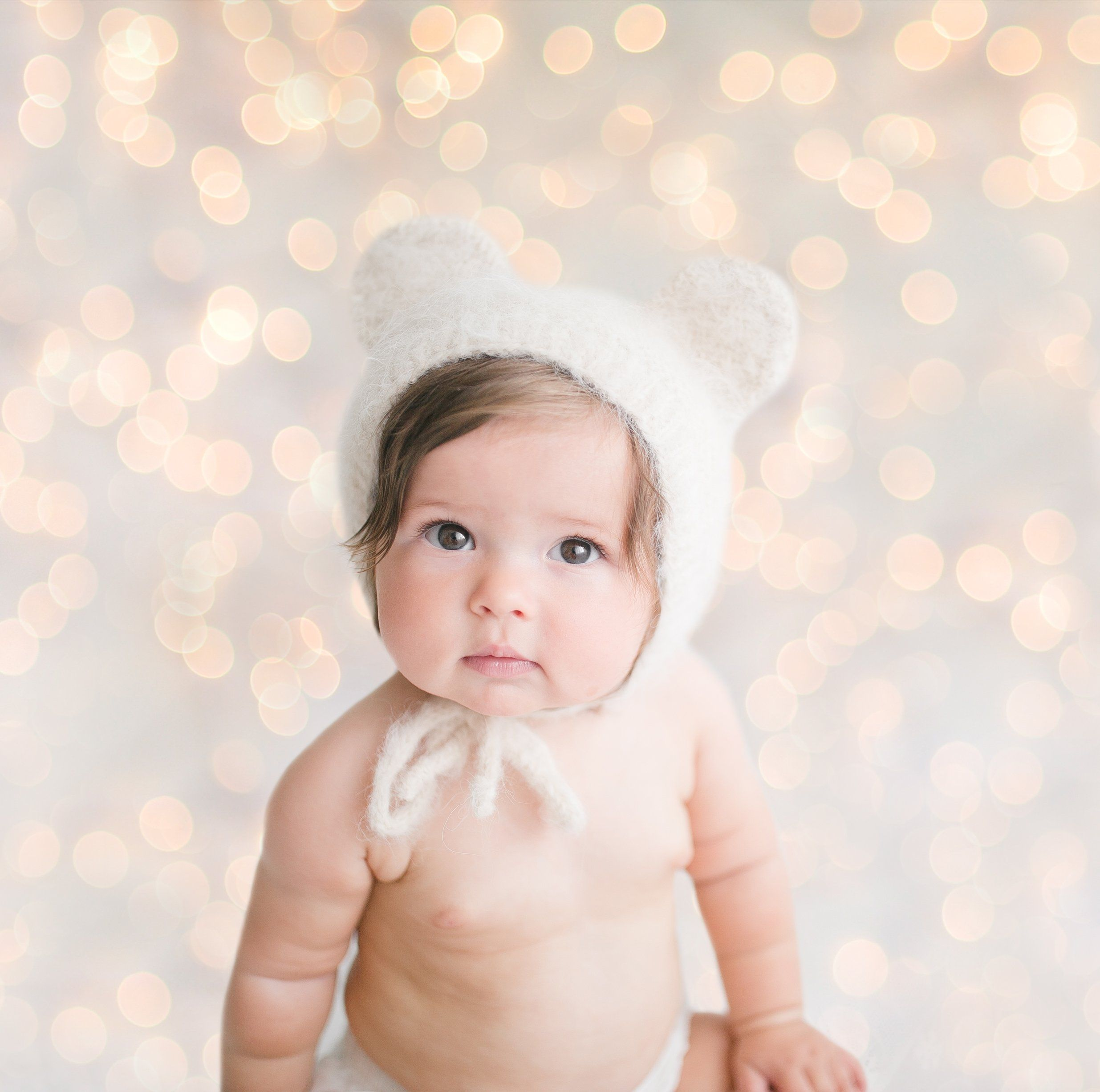 Chrsitmas Lights Overlay Digital Photography Backgrounds  - Baby With Christmas Lights