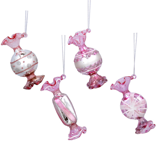Pink Glass Sweet Hanging Decoration