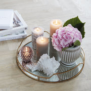 Dusky Pink Lucia Tealight Holder