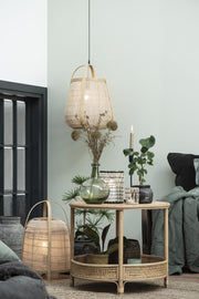 Rattan Side Table With Shelf