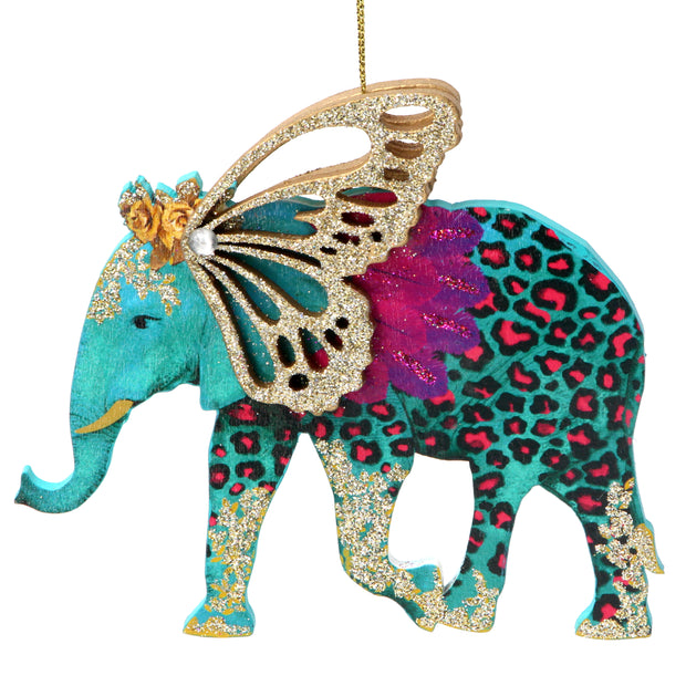 Fantasia Elephant Christmas Decoration