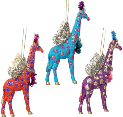 Fantasy Giraffe Christmas Decoration