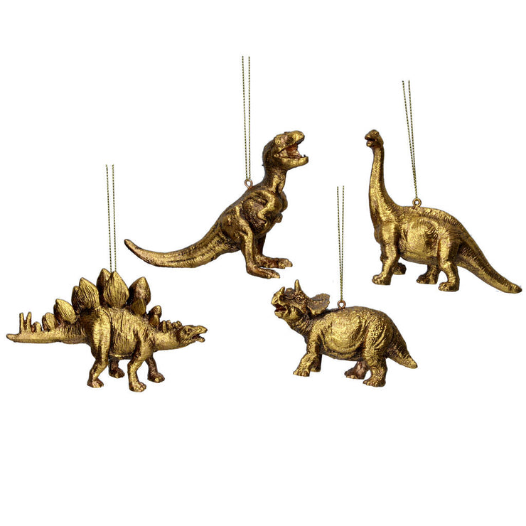Antiqued Gold Dinosaur Tree Decoration