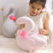 Swan With Pompom Collar