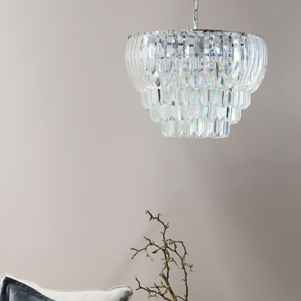 Lucia Cut Glass Chandelier