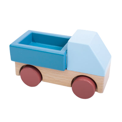 Stone Blue Wooden Truck