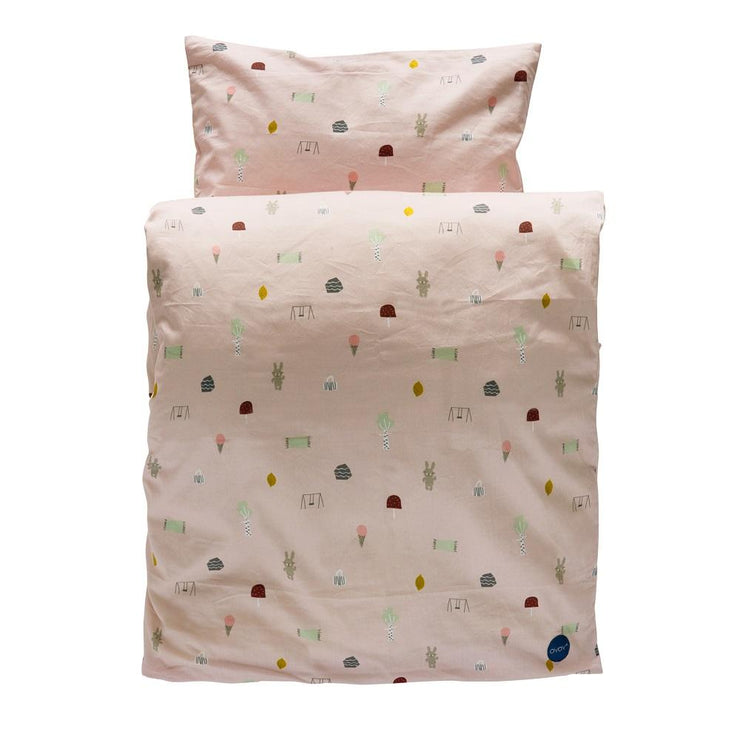 Pink Ice Cream Girl's Duvet and Pillowcase Set