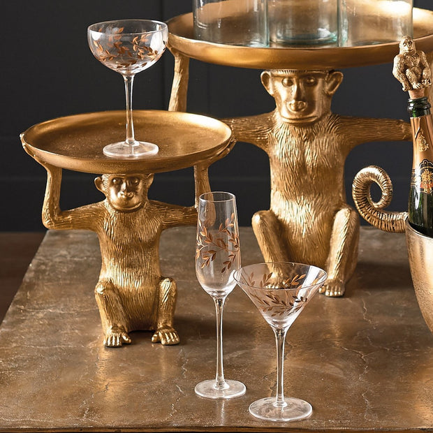 Pair Of Gold Gilded Martini Glasses - PRE ORDER