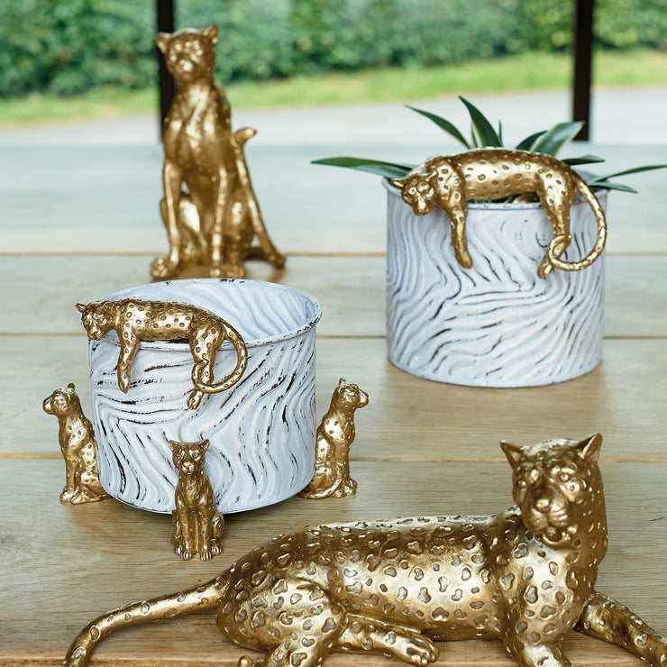 Gold Leopard Pot Hanger