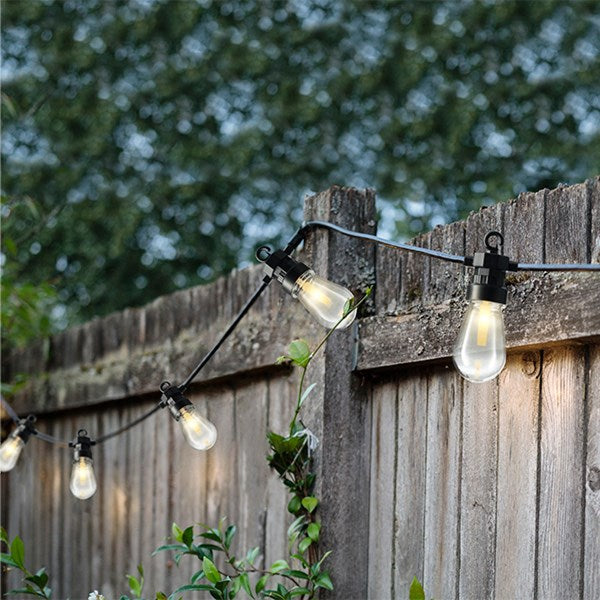 LED Outdoor Light String With Clips