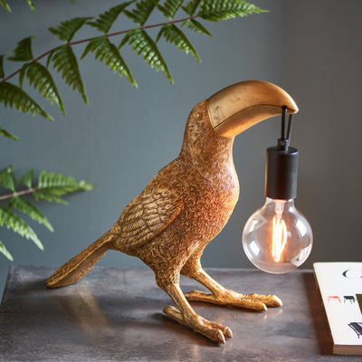 Gold Toucan Statement Lamp - PRE ORDER