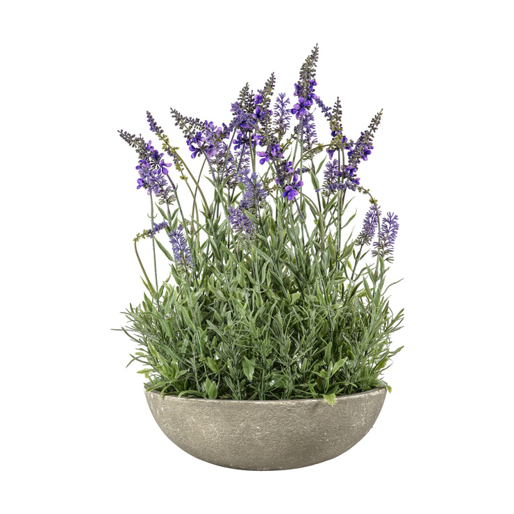 Copy of Faux Potted Lavender Bowl - Large