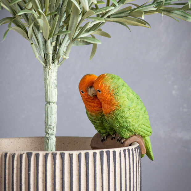 Mr And Mrs Lovebird Cockatoo Pothanger - PRE ORDER