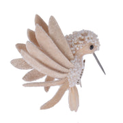 Pink And Pearl Hummingbird Clip On Decorations
