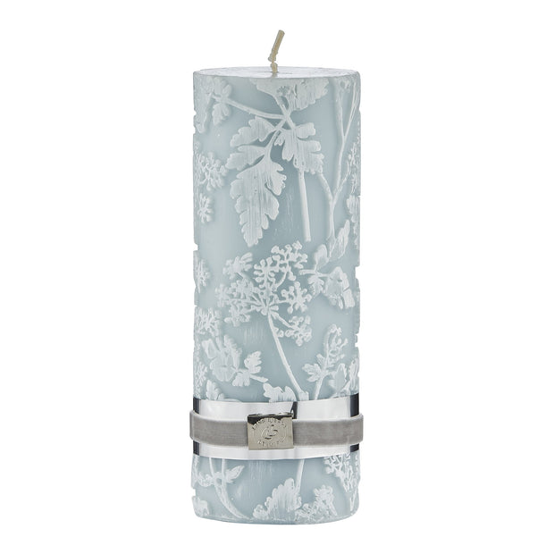 Etched Floral Candle - Sage