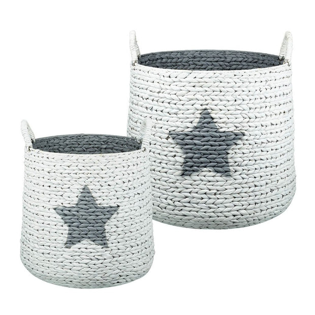 Rattan Star Storage Baskets