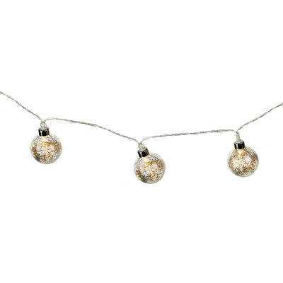 Snowflake Glass Bauble LED Garland