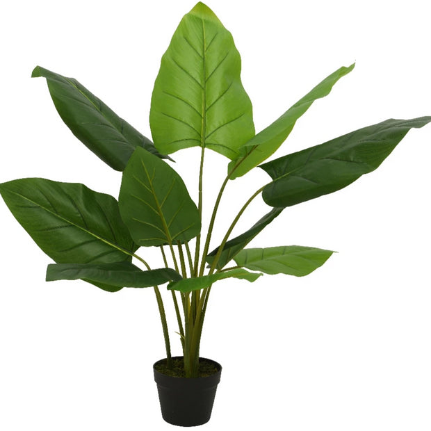 Giant Faux Taro Potted Plant