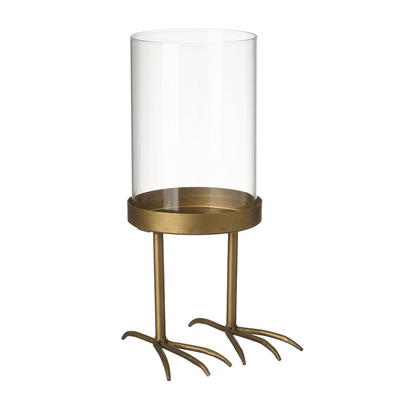 Gold Candle Holder With Bird Feet