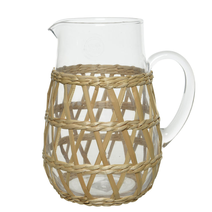 Glass Jug With Wicker