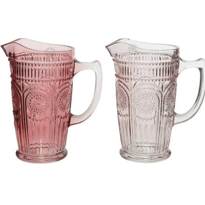 Embossed Glass Jug