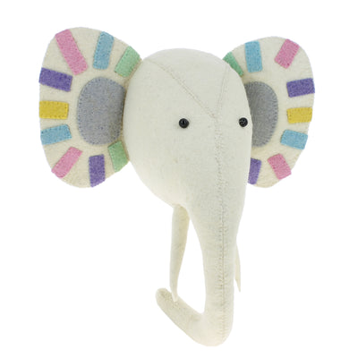 Pastel Felt Elephant Wall Head