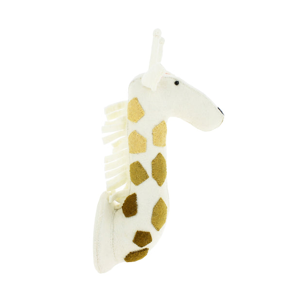 Cream Felt Giraffe Head