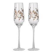 Pair Of Gold Gilded Champagne Flutes