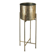Bronze Etched Vine Planter On Stand - PRE ORDER