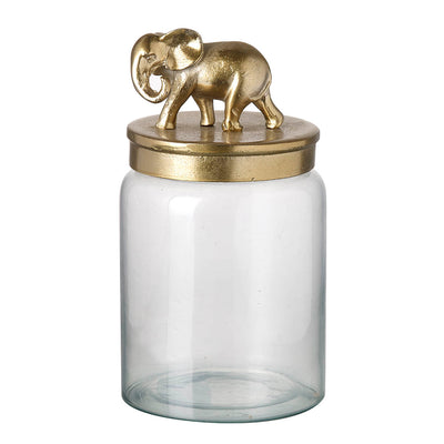 Gold Elephant Decorative Storage Jar - PRE ORDER