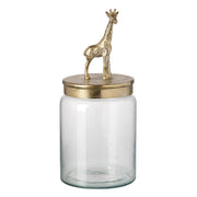 Gold Giraffe Decorative Storage Jar - PRE ORDER