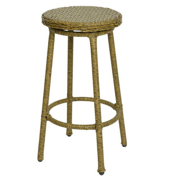Natural Outdoor Wicker Bar Stool