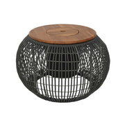 Madrid Outdoor Table With Planter - Charcoal