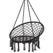 Black Macrame Hanging Chair