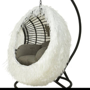 PRE-ORDER Indoor Outdoor Egg Chair Cover / White Palm Leaf