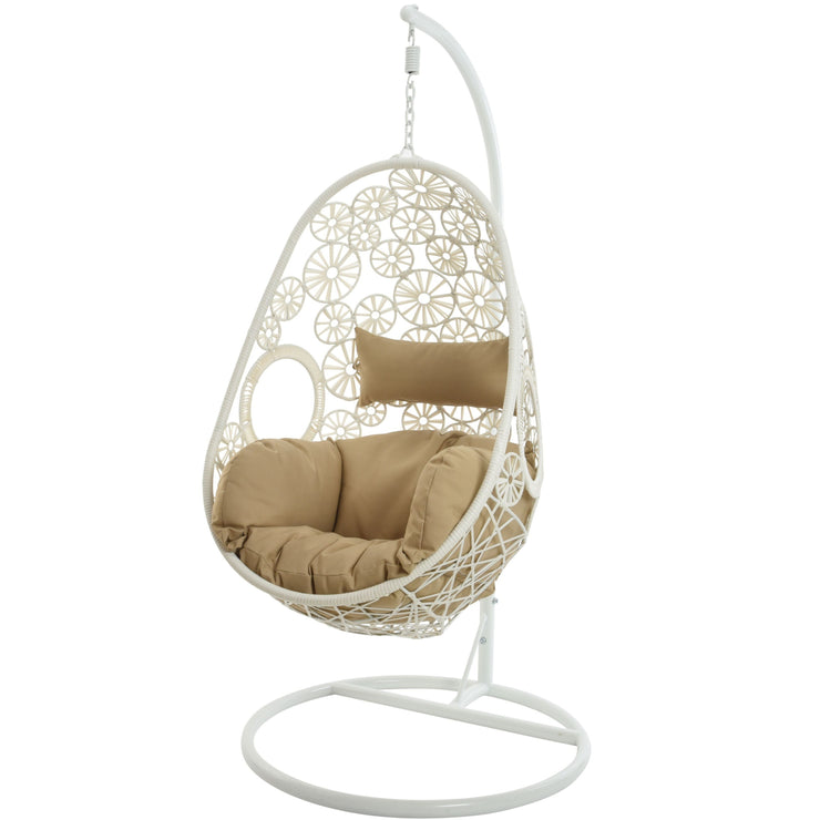 PRE-ORDER Bahia Garden Hanging Chair Indoor Outdoor Chair / White